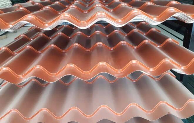 Lámina de acero galvanizado tipo teja